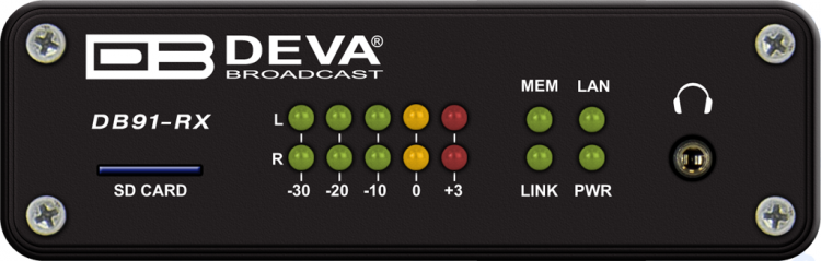 Deva Broadcast DB91-RX Compacte IP Audio Decoder