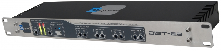 Biquad Dist 28 Audio Distributie versterker, 2 IN X 8 OUT