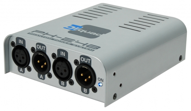 Biquad PH 248 Phantom Power, 2 Mics 48V