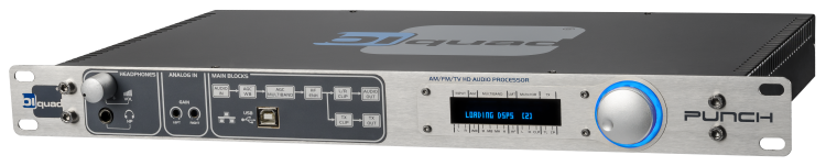 Biquad Punch  Digitale 5 Bands Broadcast Audio Processor